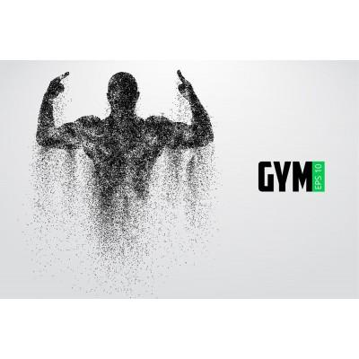 Sportmen Erkek Gym Gri Zemin Spor Salonu Duvar Kağıdı